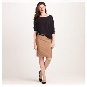 J.Crew Super 120's Wool Pencil Skirt Tan Size 0
